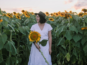 Visiting a Sunflower Farm + growing my own Sunflowers