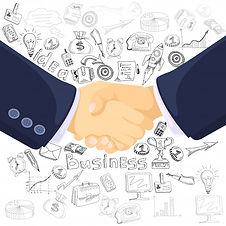 business-partnership-concept-icons-compo