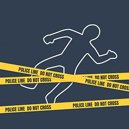 Crime scene with a body. Case briefs on attempt to murder. (Indian penal Code)