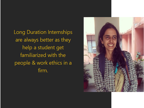 Final Year (Long-Term) Internships: Know-How