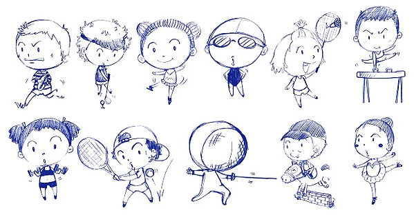 blue-doodle-design-people-playing-with-d