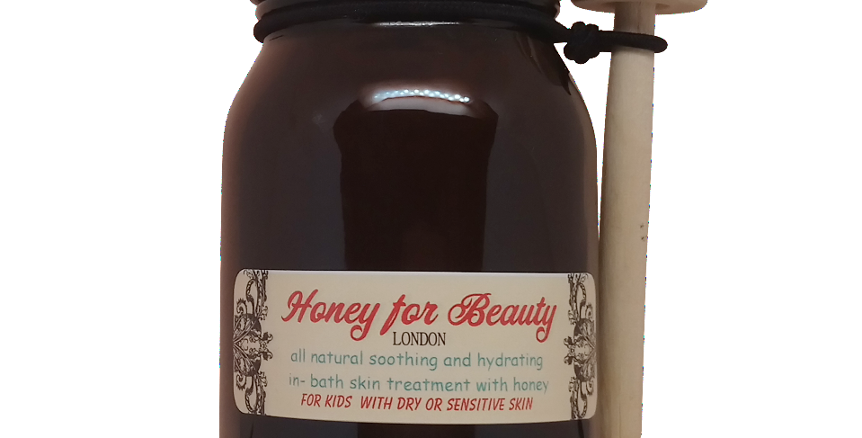 All Natural soothing and hydrating in-bath skin treatment with Raw Honey