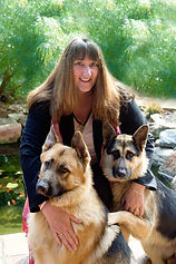 Donna Rowe with Sheila & Zac, much loved pets
