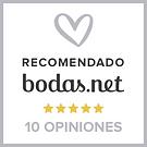 Recomendado bodas.net 5 estrellas 10 opiniones
