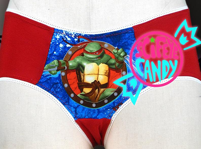Set of 4 Pizza Turtle Mid-Rise Undies Set by SciFeyeCandy