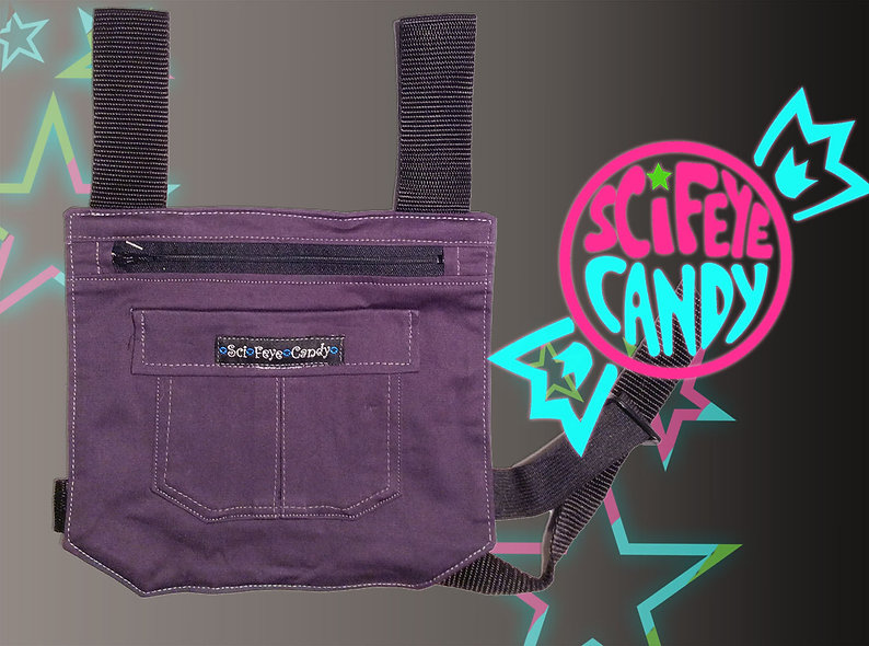 Charcoal Grey Leg Bag 1.0 by SciFeyeCandy