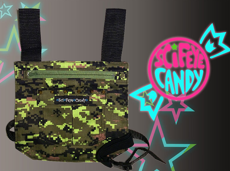 Spiked Pixel Camo Leg Bag 1.0 by SciFeyeCandy
