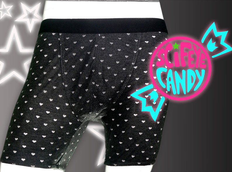Charcoal Heart Boxer Briefs by ScifeyeCandy