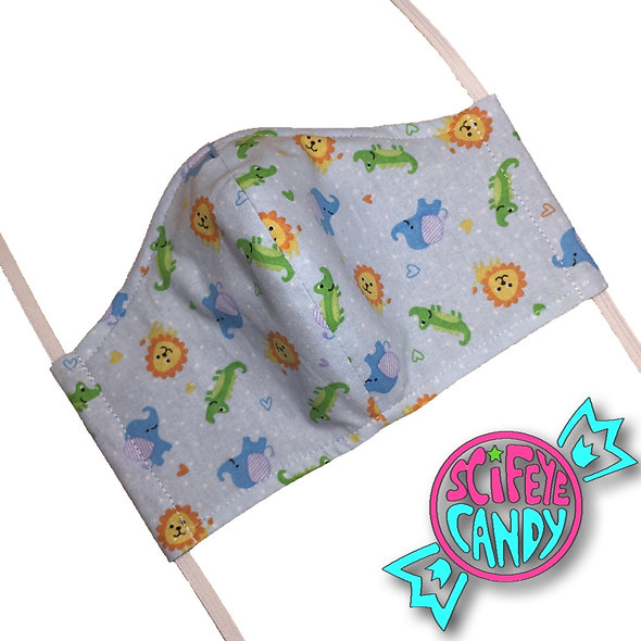 Baby Blue Zoo Cloth Dust Mask