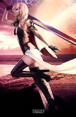Lightning Cosplay Body Suit