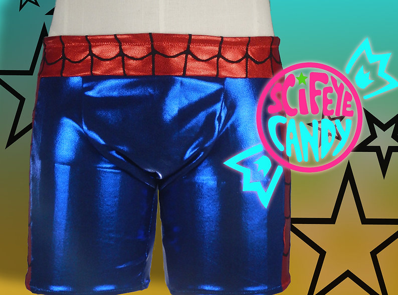 Avenger Web-Head Swim Trunks by SciFeyeCandy
