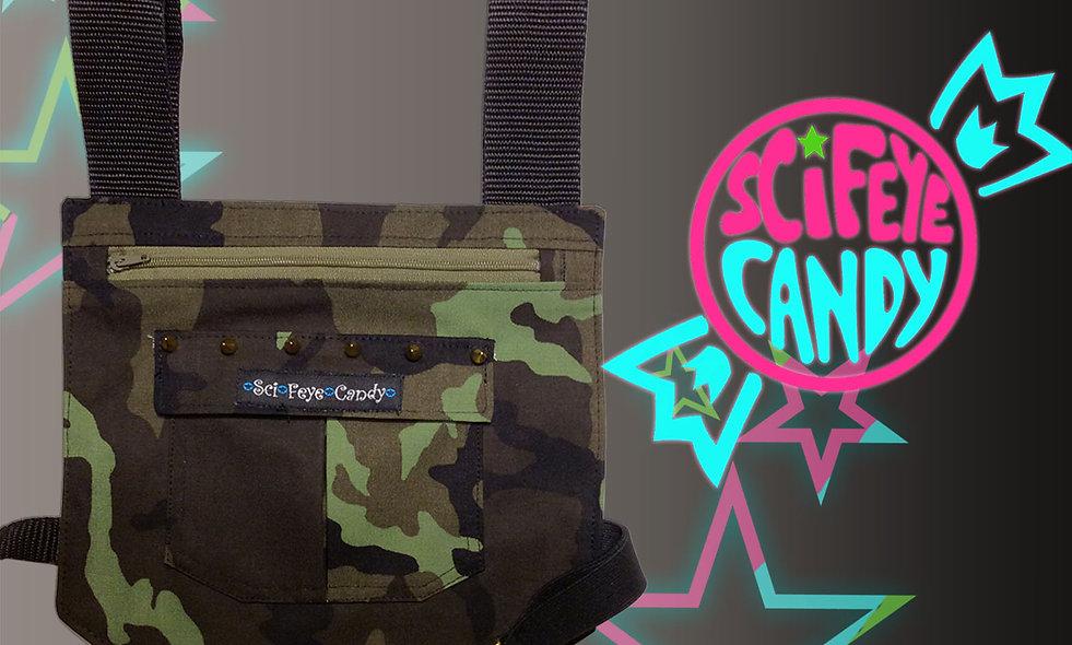 Green Camo Spyke Leg Bag 1.0 by SciFeyeCandy