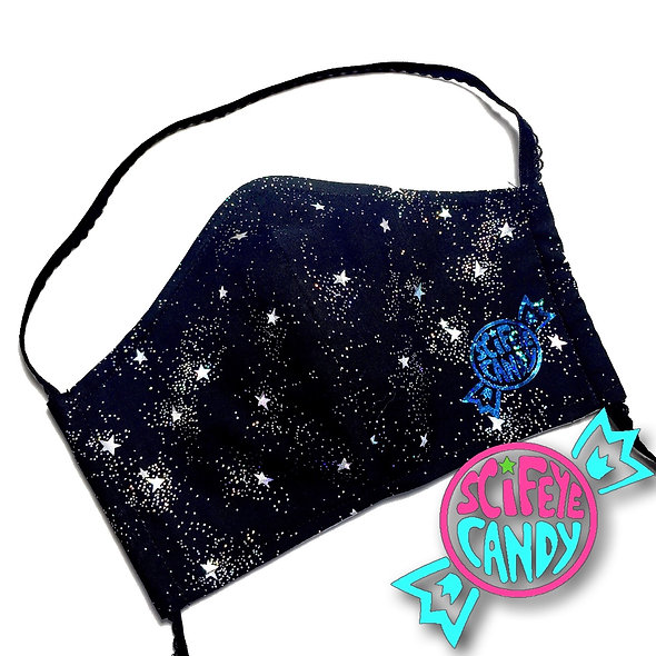 Black with Holographic Stars Dust Mask