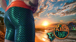 King of Atlantis swim trunks