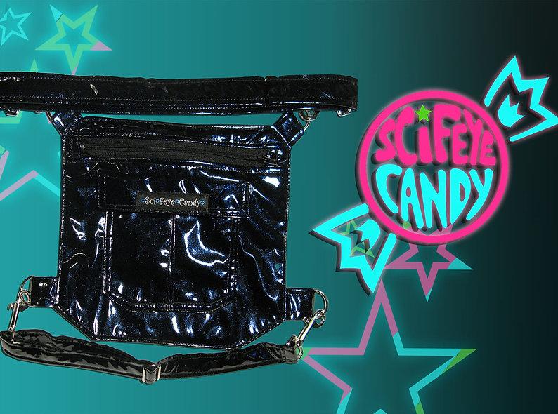 Midnight Blue Vinyl Leg Bag 2.0
