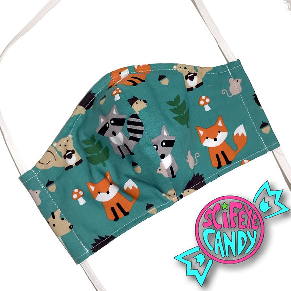 Fox and Forest Friend Cloth Dust Mask