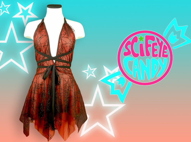 Blood Web Spider Witch Lace Dress by SciFeyeCandy