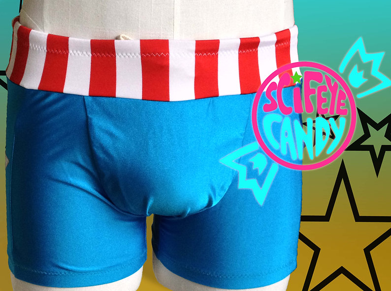 Cap Swim trunks by SciFeyeCandy