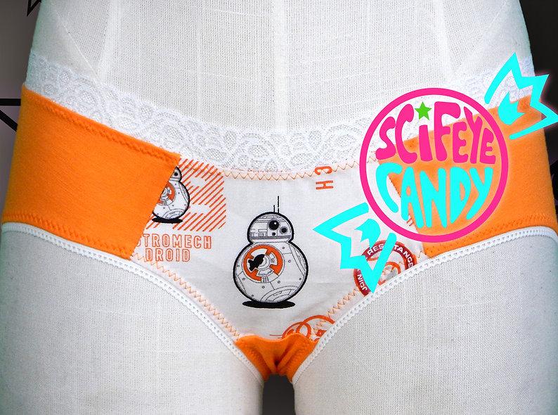 Orange Space Droid Panties by SciFeyeCandy