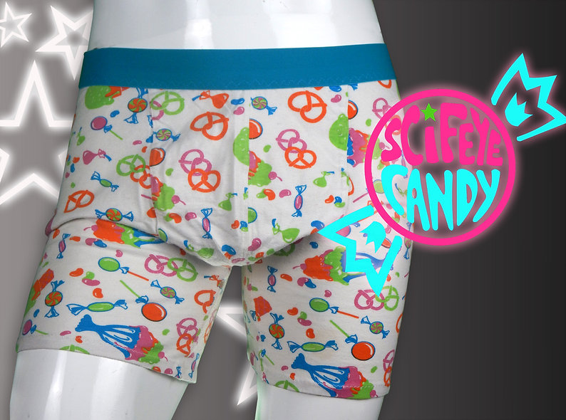 Rainbow Candy Boxer Briefs by ScifeyeCandy