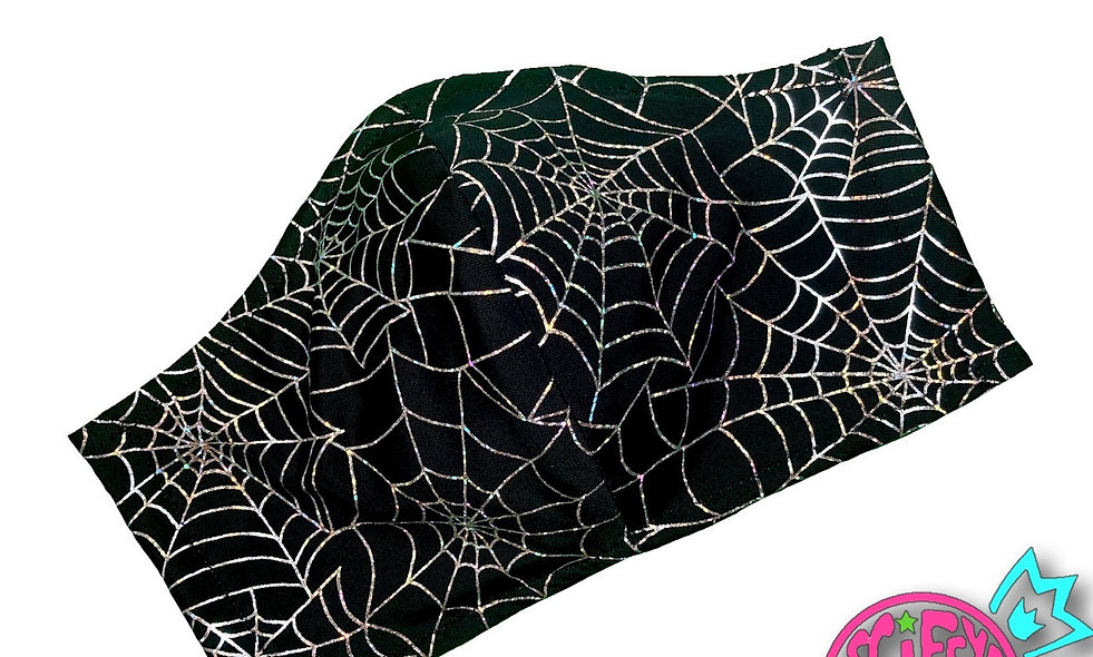 Holographic Spider-Web Cloth Dust Mask