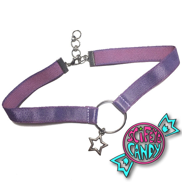 Lavender Satin Star Choker by SciFeyeCandy