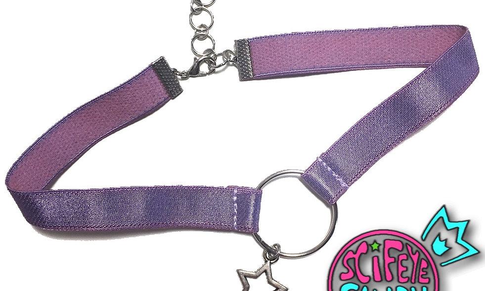 Lavender Satin Star Choker by SciFeyeCandy