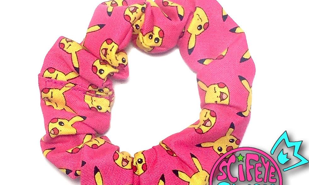 Pink Pika Scrunchie
