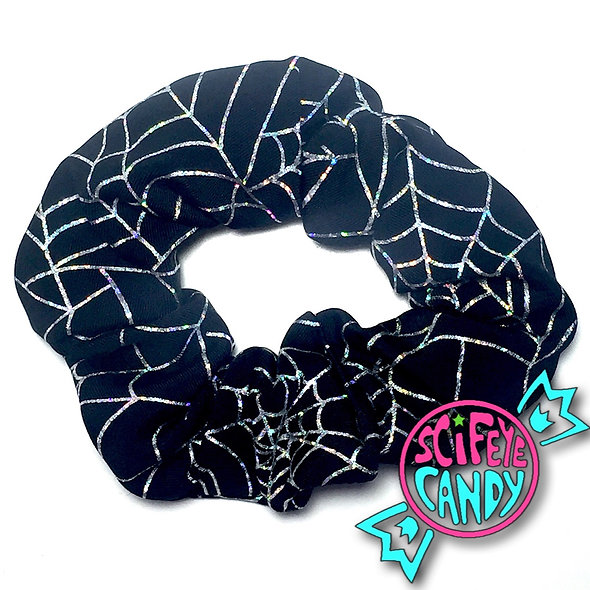 Holographic Spiderweb Scrunchie