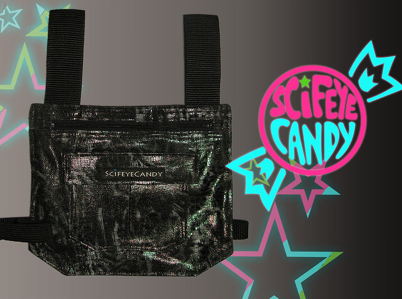 Black Holographic Leg Bag 1.0 by SciFeyeCandy