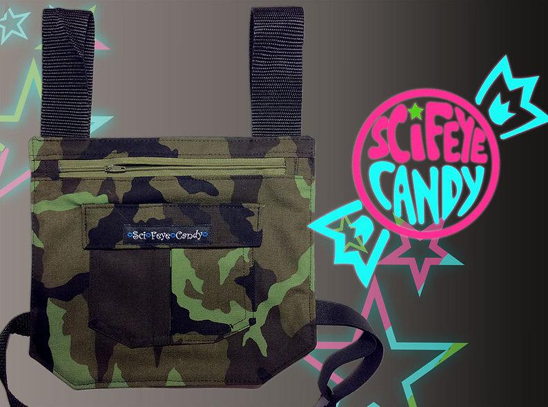 Green Camo Leg Bag 1.0 by SciFeyeCandy