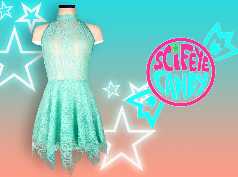 High-Neck Lace Dress by SciFeyeCandy
