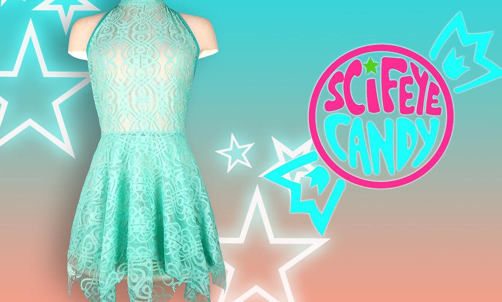 High-Neck Lace Dress by SciFeyeCandy