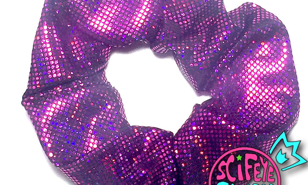 Holographic Fuchsia Pink Scrunchie