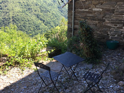 Small stone terrace from the lounge
