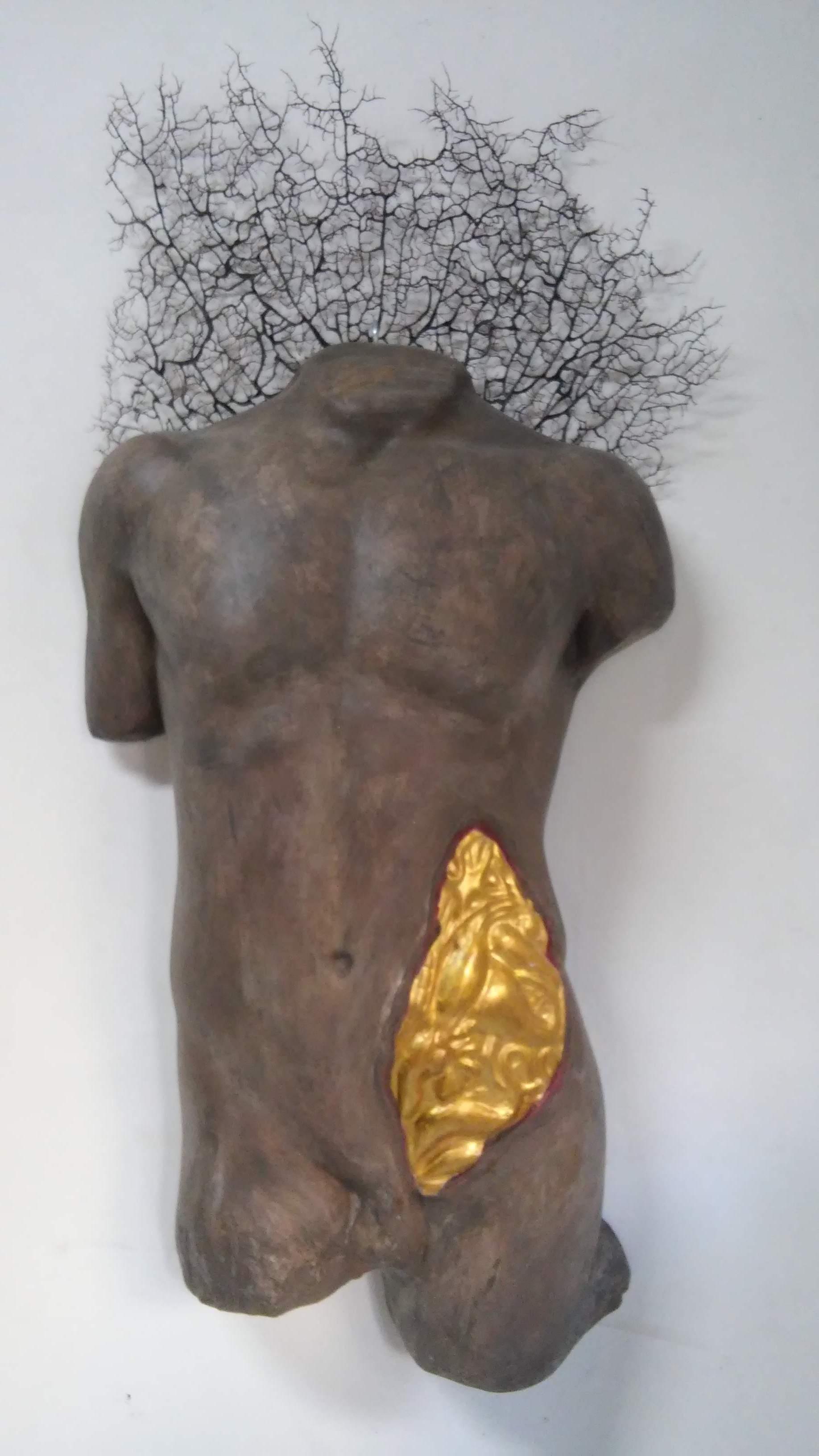Segni_oro / Il corpo segnato (tecnica mista)