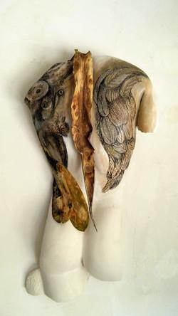Tracce d'angelo / Il corpo segnato (tecnica mista)