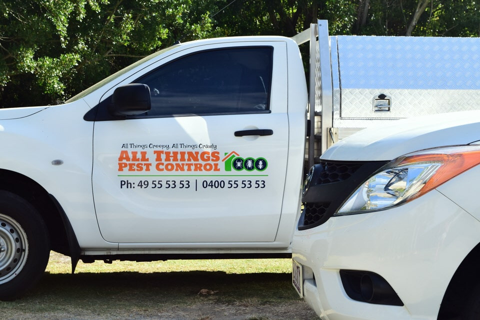 All things pest control mackay vehicle signage