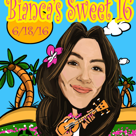 Bianca Sweet 16 Caricature