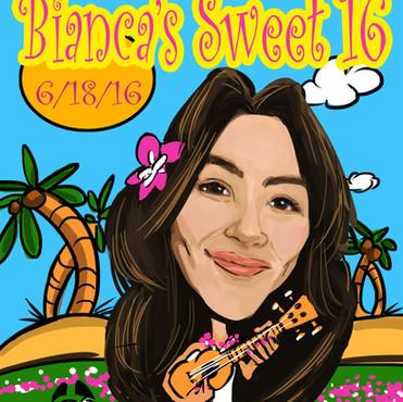 Bianca Sweet 16 Caricature