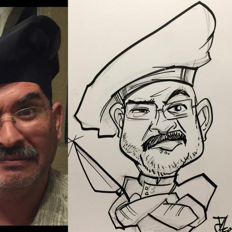 Chef Caricature Sample Socaltoons.com co