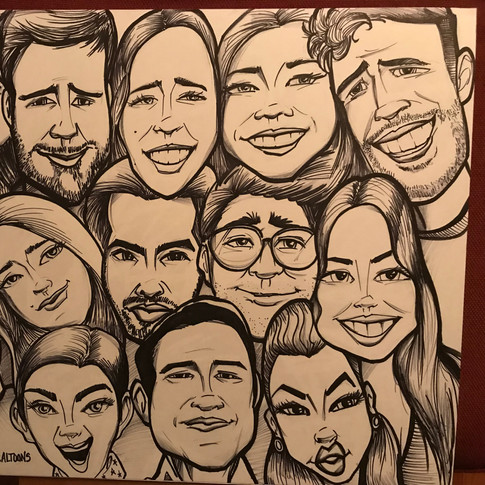 Group ink drawing @Socaltoons