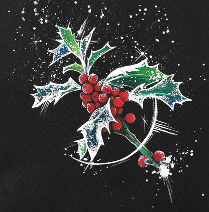 Berries Christmas Card Design 2020