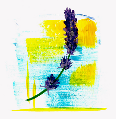 Abstract Lavender Sprig