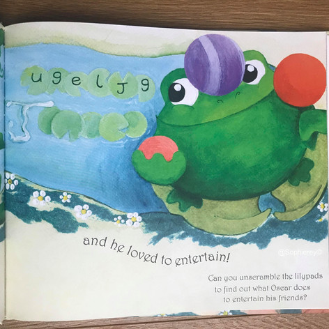 Unscrambled the lily pad letters...