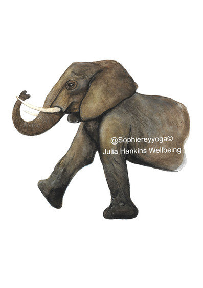 Elephant Breath Yoga Card