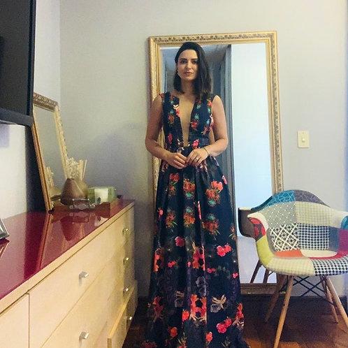 Vestido longo floral Patbo