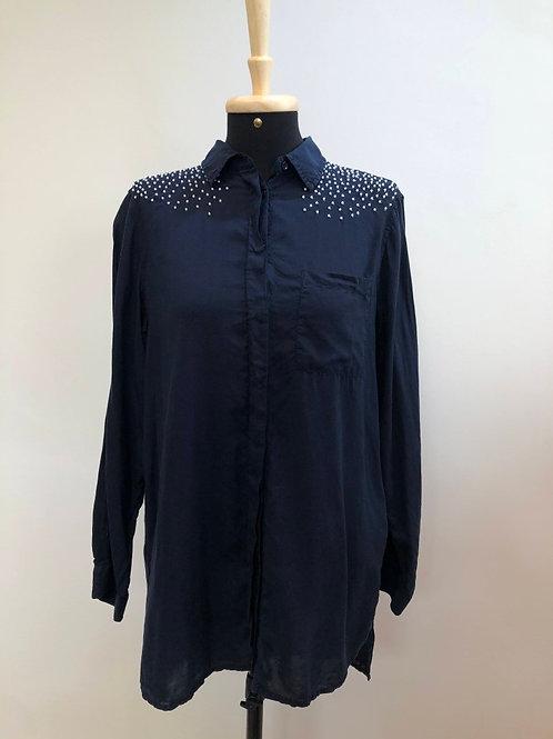Camisa marinho Zara Basic