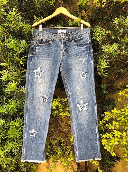 Calça jeans estrelas Mango