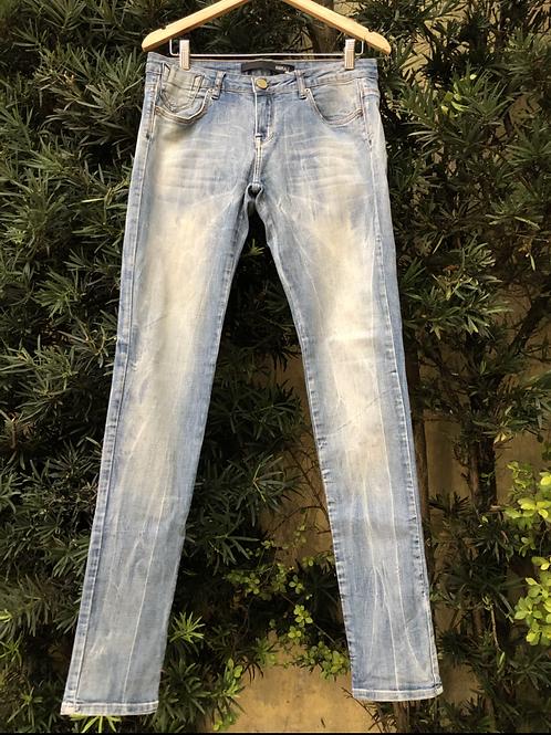 Calça jeans lavagem manchada Animale